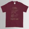 Cubs Refrain T-Shirt - Maroon | GILDAN